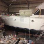 Picture of boat window installation