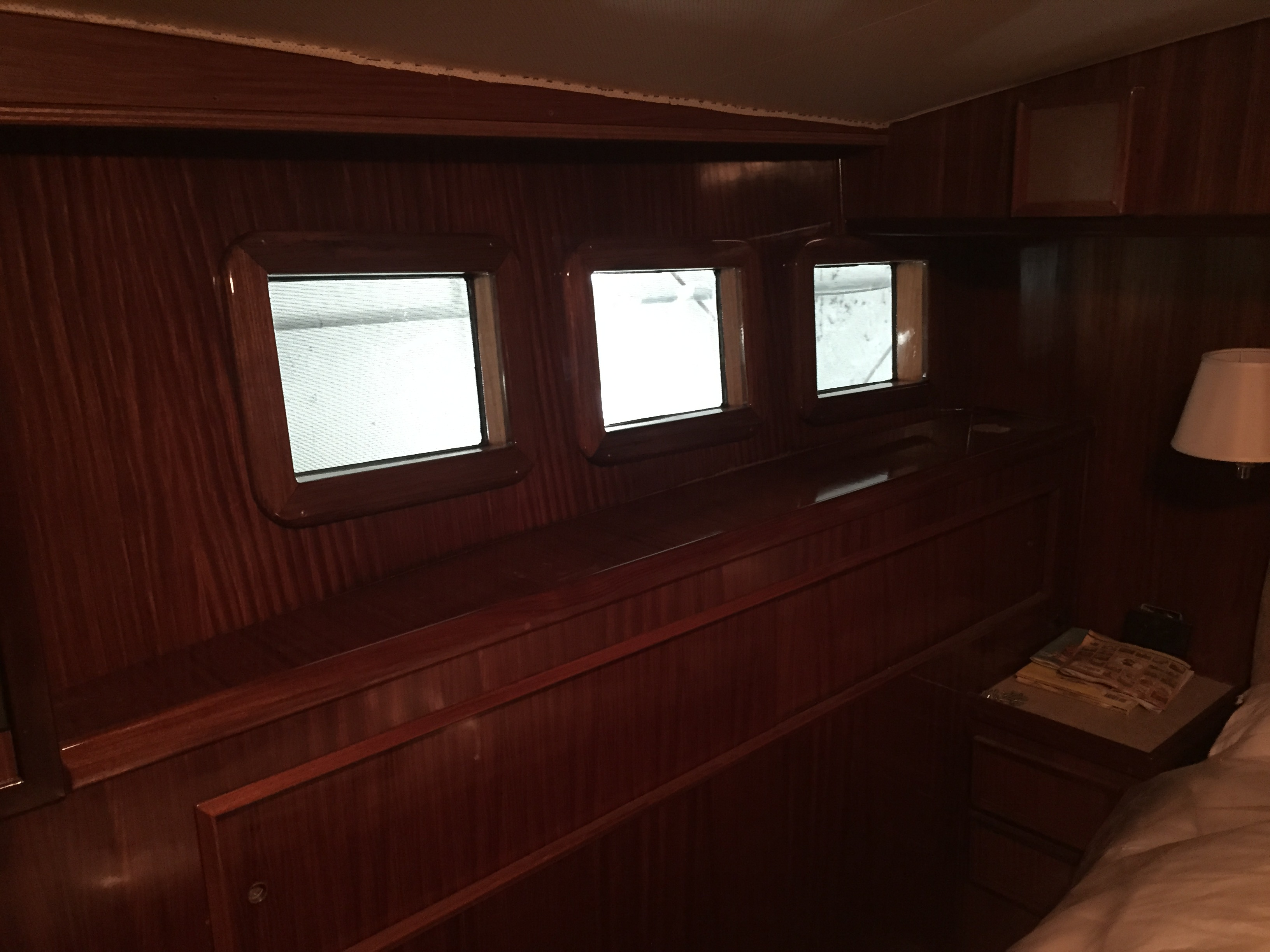 Hatteras 55 convertible interior trim lookout boat window lookout boat windows for Mr trim convertible tops and interiors